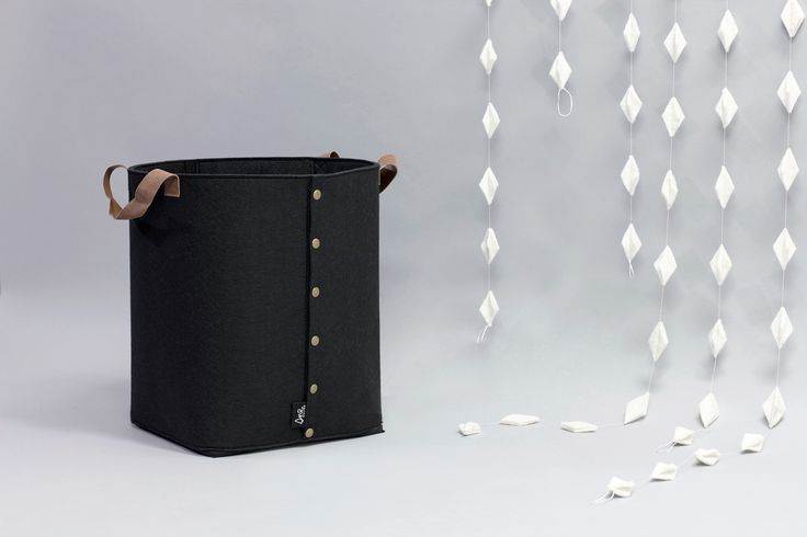 LAGRE black felt storage basket. Norwegian design by Christine E. Sveen for snedesign.com.