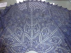 Ravelry: gratitude, a shawl pattern by bunnymuff MT lace 'Gratitude, a shawl'. A lovely lace opening to glistening droplets. If you enjoy a challenge, if you are un-wavered by the exotic p2togtbl and beads, then this is a shawl for you!  It is a semi-circle lace weight shawl knit on 3.5mm or 3.75mm needles, incorporating Haapsula inspired motif.