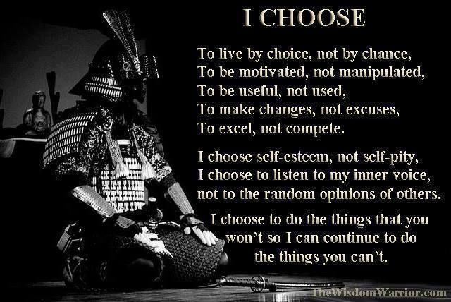 Bushido, this is truly what I try every day to live like.