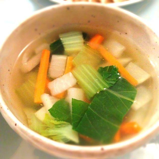 私にしては美味しくできた♪♪ - 3件のもぐもぐ - カブとチンゲン菜の中華スープ by lediamant