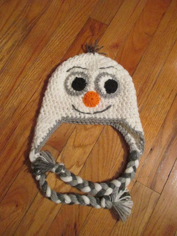 Crochet Olaf hat from Frozen! Also check out my Elsa and Anna hats in my shop