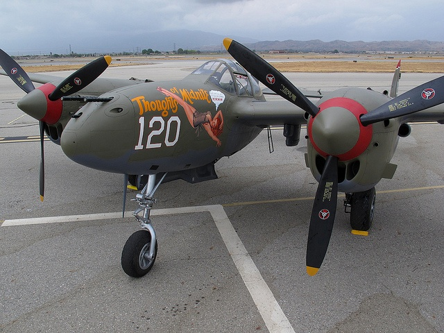P-38 Lightning Thoughts of Midnite by Trent Bell, via Flickr