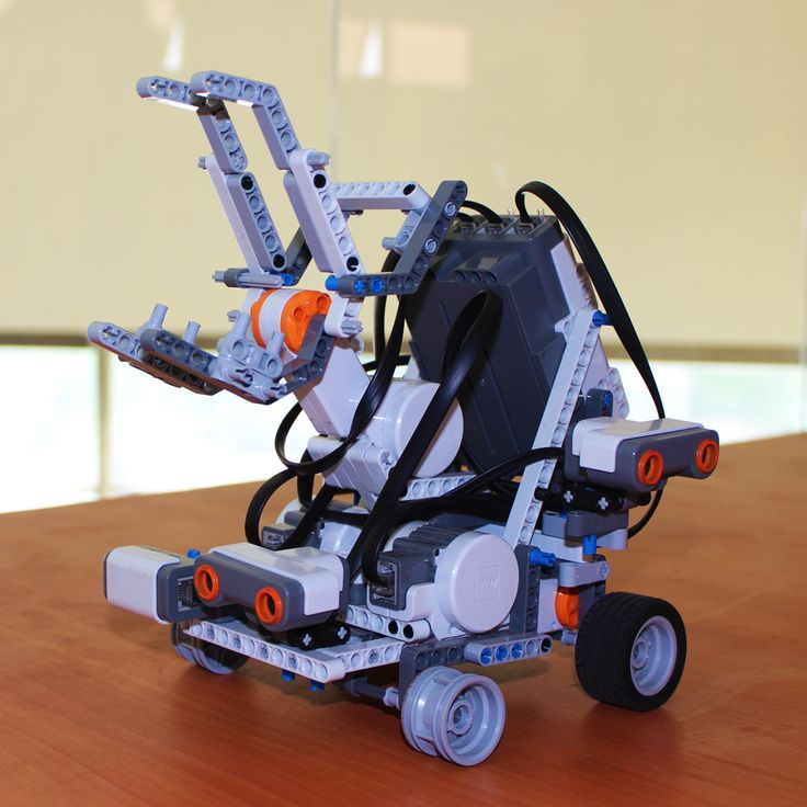 Lego Robot built and displayed by students from Department of Mechatronics at CEME, NUST.