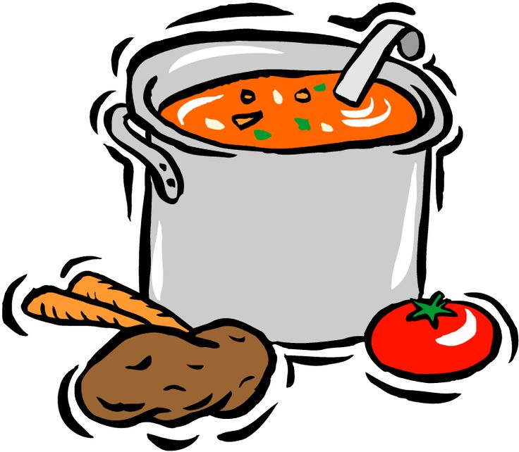 Soup Clipart on bean bag chair clip art