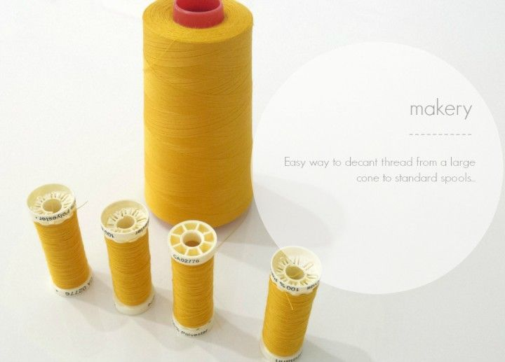 Top Tip: Transfer thread from large cones to small spools