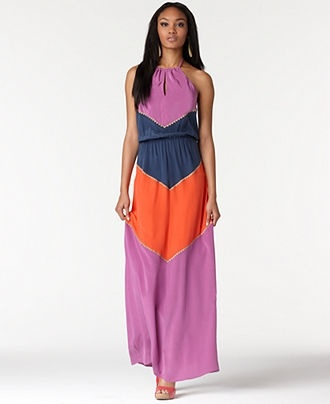 Fashion Do's and Don'ts – A Quick Guide to Wearing What You Love: Maxi Dresses, Colorblock Silk, Spring Dresses, Beautiful Maxi, Colorblock Maxi, Halter Colorblock, Bcbgmaxazria Dresses, Casual Dresses, Silk Maxi