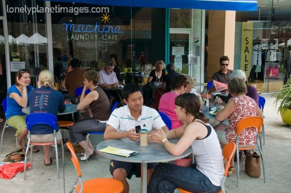 Good breakfast at Machine Laundry cafe in Salamanca Square, Hobart.