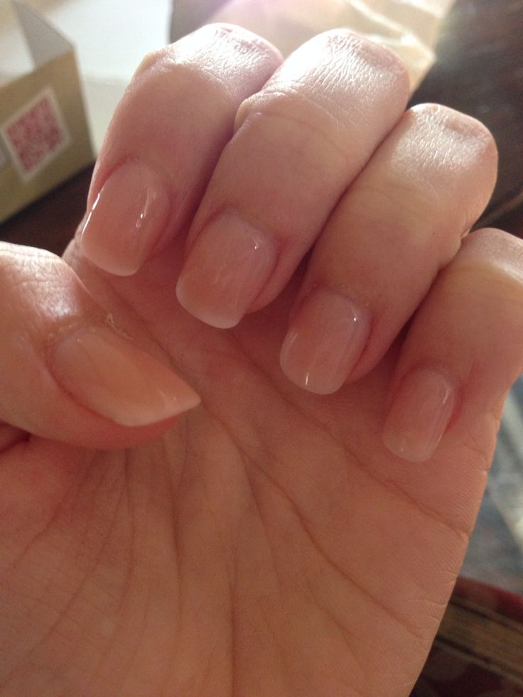 Natural-looking acrylic nails