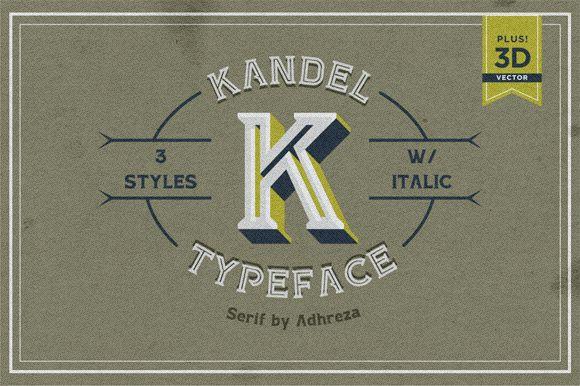 Kandel Typeface by Adhreza on Creative Market