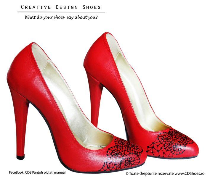 Naughty Girl - Pantofi pictați manual