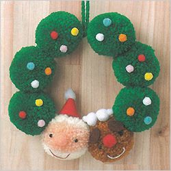 Merry Christmas!! かんたん かわいい ボンボンマスコット特集 手編みと手芸の情報サイト あむゆーず