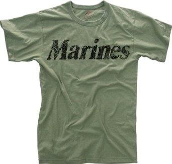 Vintage Olive Drab Marines Tee