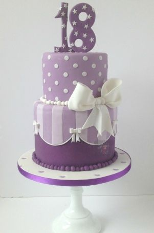 Purple 18th Birthday Cake Shelbys 18 Bday