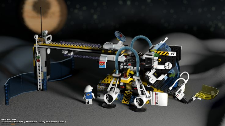 "MOC 691410 Alternative Build 05 (""Mammoth Galaxy Industrial Mixer""), see more at http://lego.queryen.com/php/691410.php"