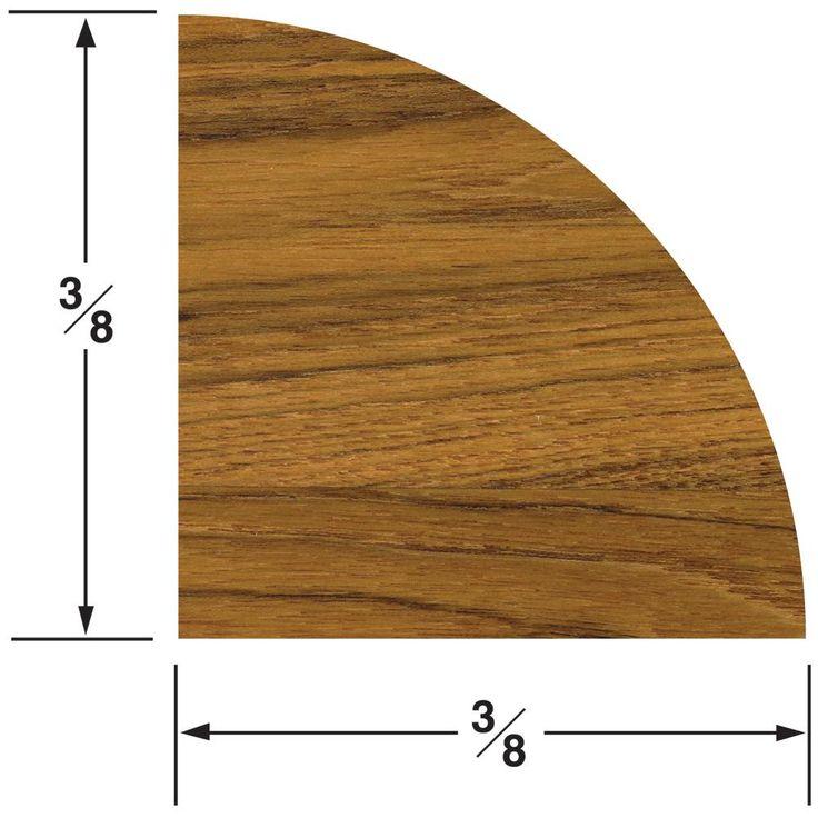 Whitecap Teak Quarter Round Molding Small - 5' [60851]