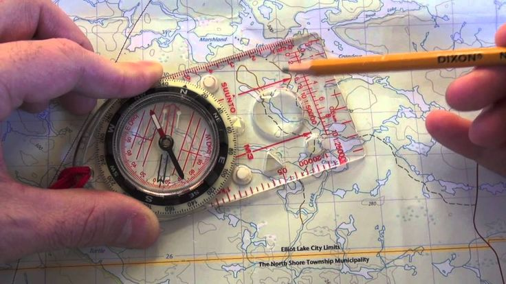 This is a lesson on map and compass navigation declination and finding map bearing.
