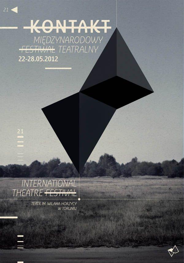 International Theatre Festival - Event Poster Design by Radek Staniec