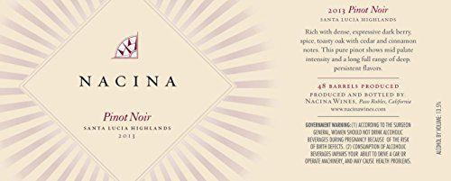 2013 Nacina Wines Santa Lucia Highland Pinot Noir 750 mL * Click image to review more details.