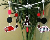 Arkansas razorback Baby Mobile by LaineybelleBoutique on Etsy