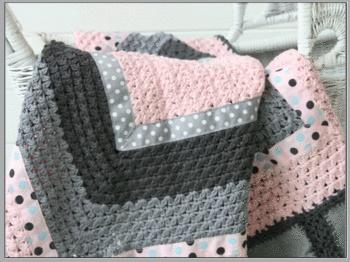 yarn and fabricCrochet Blankets, Crochet Ideas, Crafts Ideas, Crochet Afghans, Combinations Yarns, Afghans Blankets, Blankets Cut Colors, Crochet Baby, Crochet It