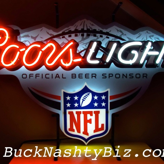 Coors Light NFL Neon Beer Sign - BuckNashtyBiz.com