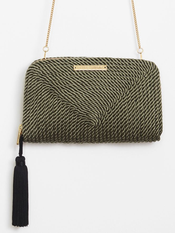 The product Bolso de fiesta Jimena · Verde Oliva is sold by OLVIDO MADRID in our Tictail store.  Tictail lets you create a beautiful online store for free - tictail.com
