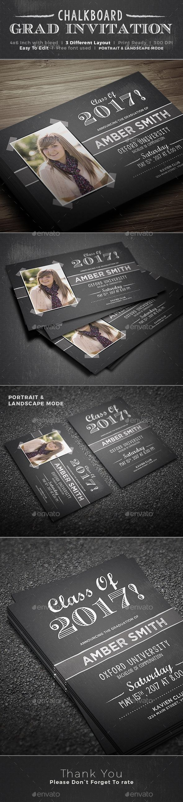 Graduation Invitation Template PSD. Download here: http://graphicriver.net/item/graduation-invitation/16071131?ref=ksioks