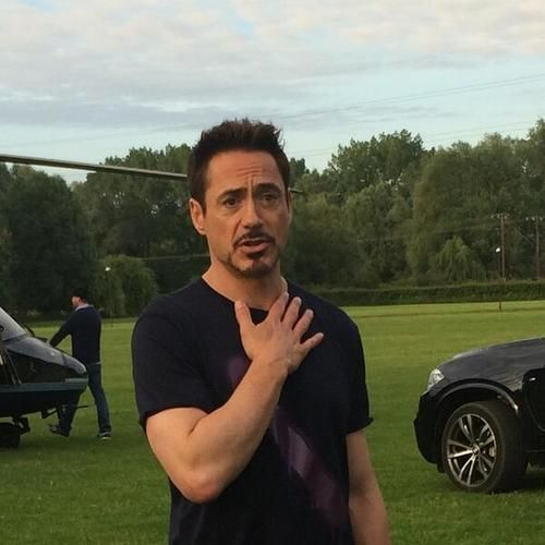"Robert Downey Jr. filming scenes for ""Avengers: The Age of Ultron"" in Norwich, England, June 13, 2014."