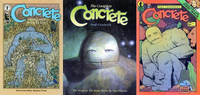 Concrete est la bande dessinée la plus connue de Paul Chadwick. Dans cette BD on peut voir son engagement avec l'écologie politique.