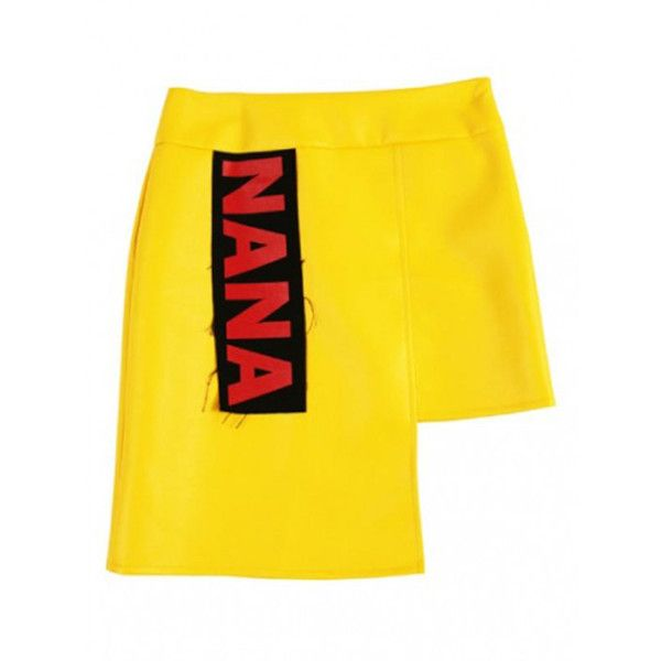 NANA PATCH SKIRT YELLOW ($81) ❤ liked on Polyvore featuring skirts, patch skir... 4
