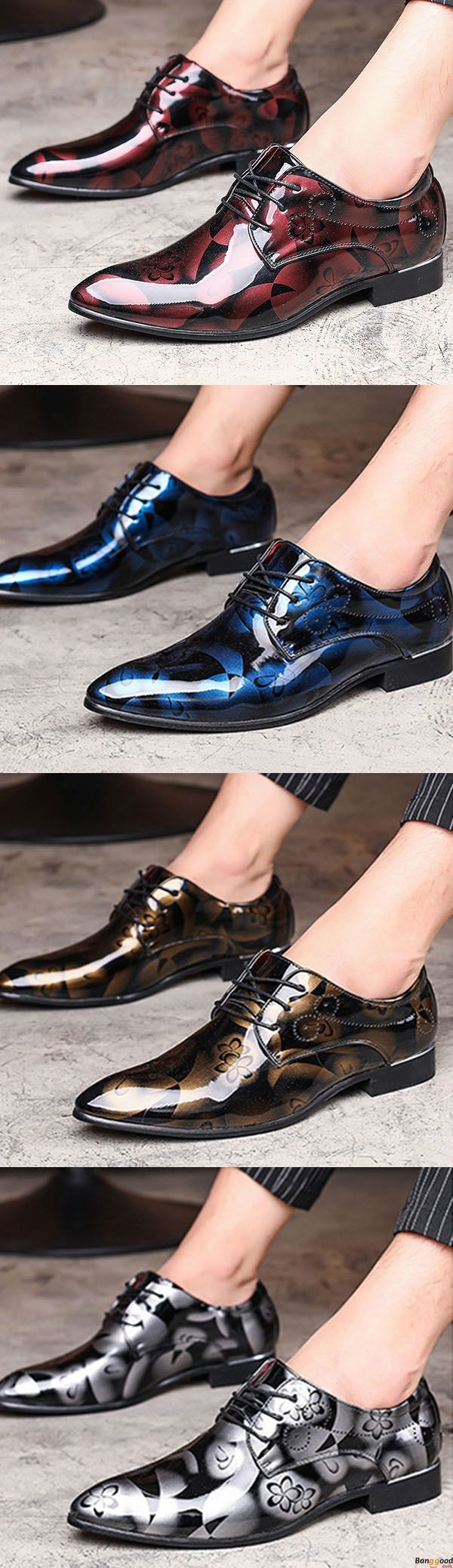 Large Size Comfy Leather Business Formal Shoes Pattern Pointed Toe Shoes for Men. US$44.03+ Free Shipping. Men's fashion style must have. Shop at banggood with affordable price.