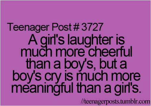 A girl's laughter, a boy's cry