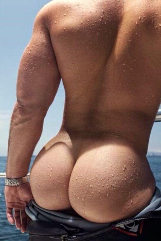 Nude black male booty