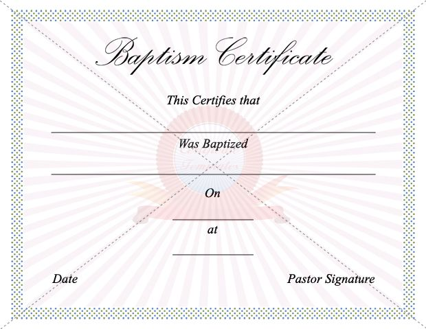 The 11 Best Images About Baptism Certificate On Pinterest | Baby