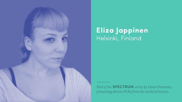 SPECTRUM: Eliza Jappinen http://motionographer.com/2017/05/12/spectrum-eliza-jappinen/?utm_campaign=coschedule&utm_source=pinterest&utm_medium=Justin&utm_content=SPECTRUM%3A%20Eliza%20Jappinen