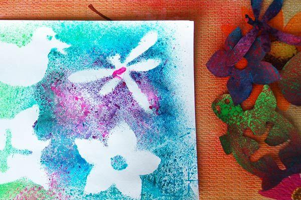 Toothbrush Painting Kids Crafts Fun Craft Ideas Firstpalette Com Kids Painting Crafts Crafts Painting For Kids