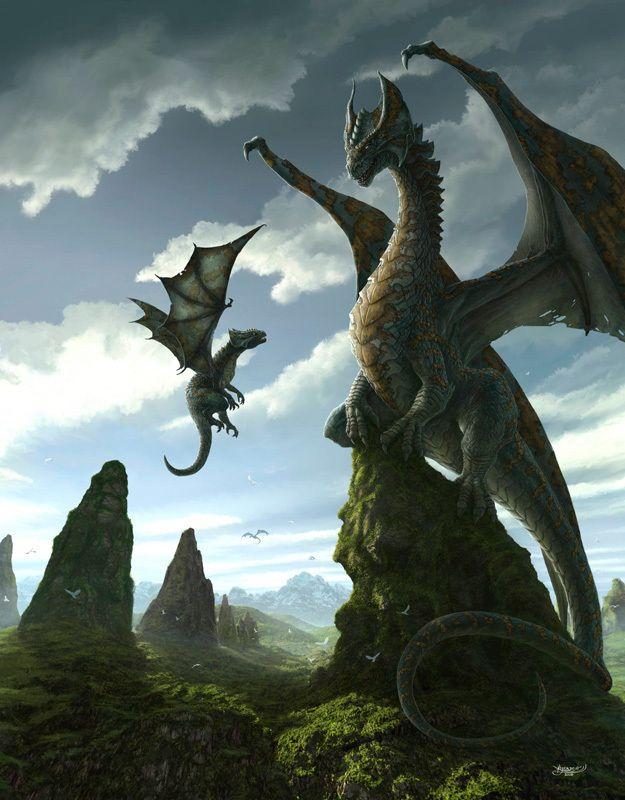Papa et bébé Dragons