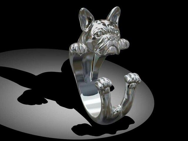 Pug Ring by Marco Giardini Gioielli! Awwwww cuuutee!