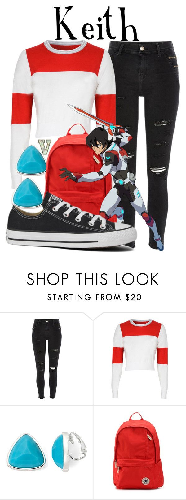 """Keith Kogane (Voltron: Legendary Defender)"" by fabfandoms ❤ liked on Polyvore featuring River Island, Glamorous, Liz Claiborne and Converse"