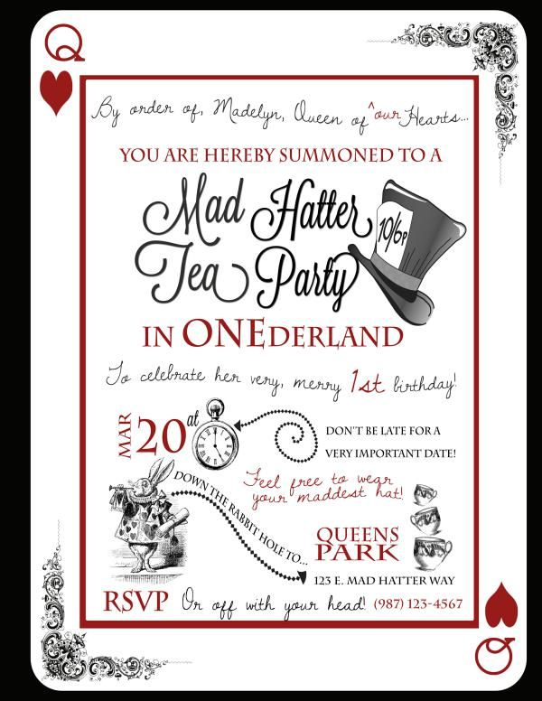 CUTE idea for a 1st birthday- a tea party in ONEderland.