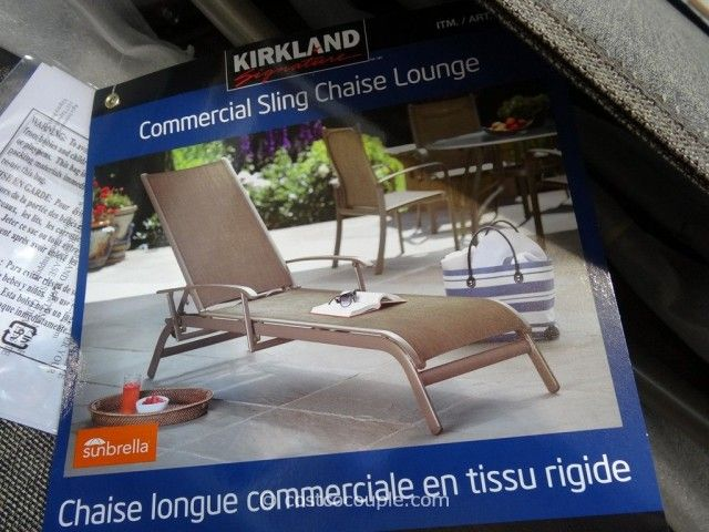 Kirkland Signature Commercial Sling Chaise Lounge Costco Garden Delights Outdoor Plants Gardens Greenscapes Pinterest Chair And