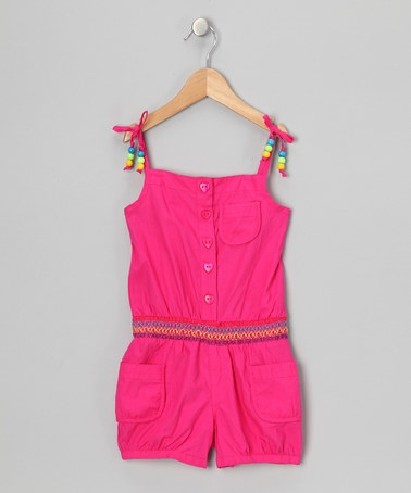 Take a look at this Pink Beaded Romper - Infant & Girls by Longstreet on #zulily today!