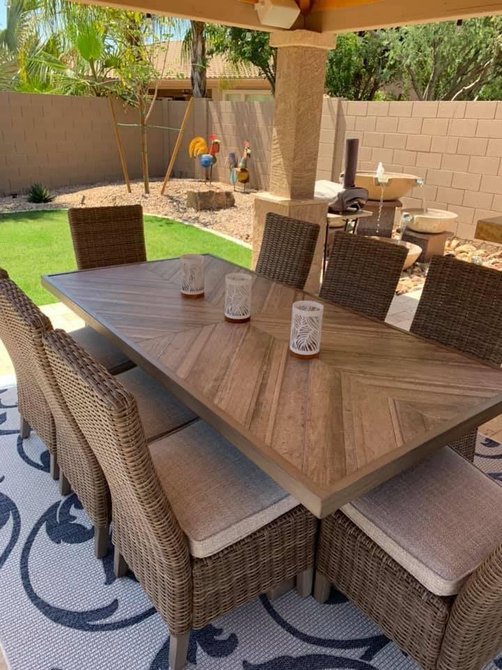 Beachcroft Outdoor Rectangular Table Outdoor Dining Table Setting Rectangular Table Outdoor Dining Table