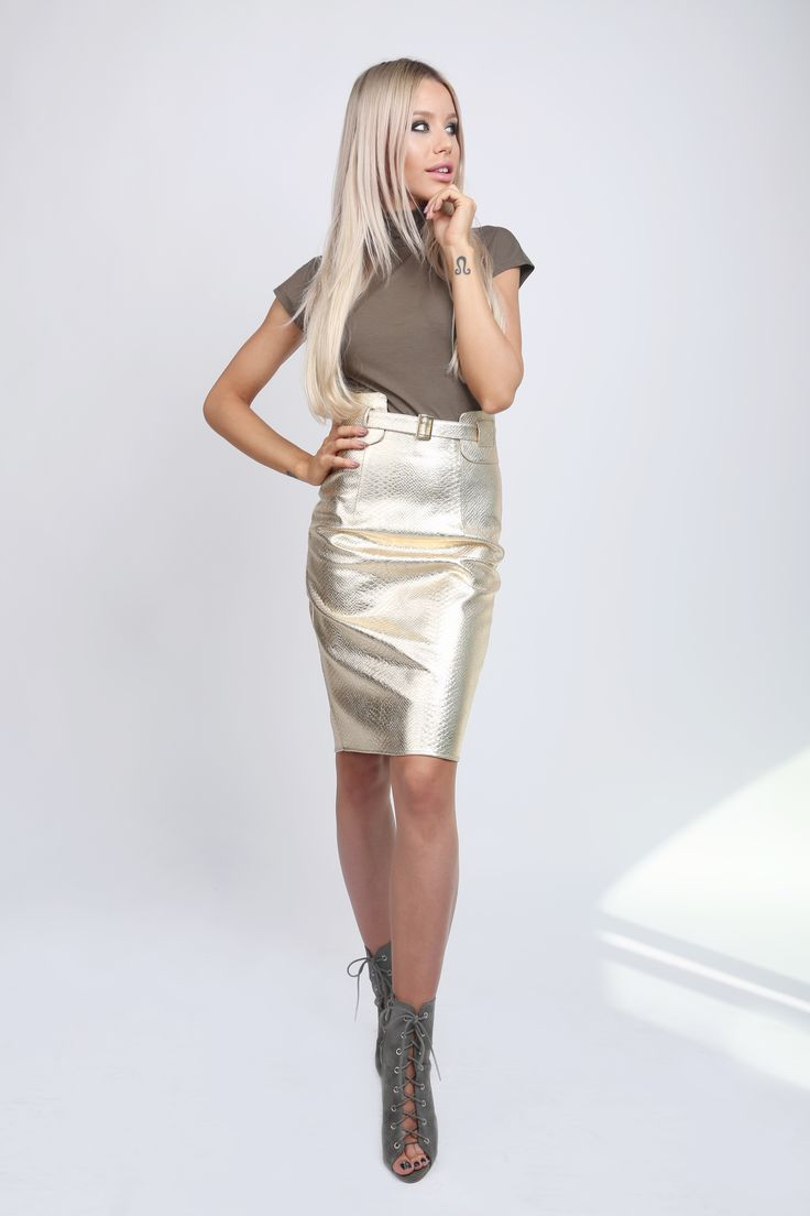 Metallic Snake Skirt!