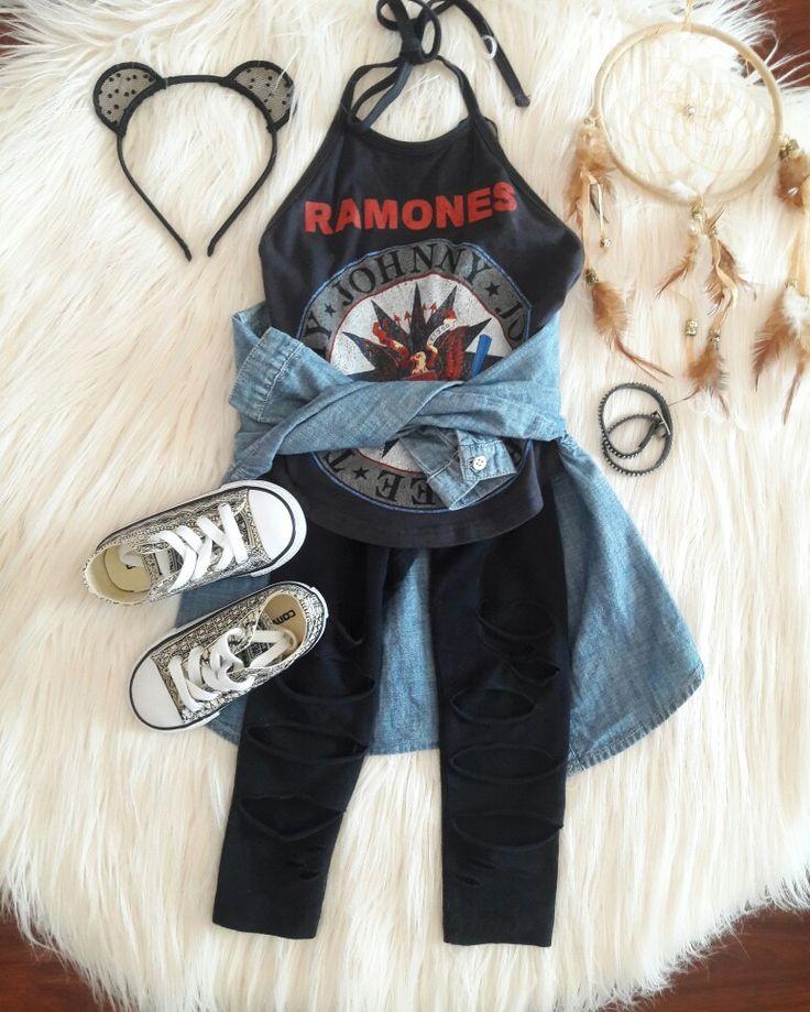 Ramones. Baby rocker. Hipster baby. Mainstream. Converse. Boho. Bohemian.