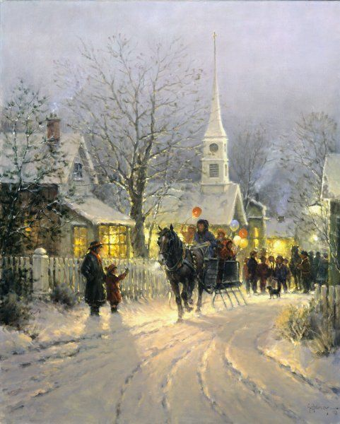 The Village Carolers by G. Harvey by G. Harvey