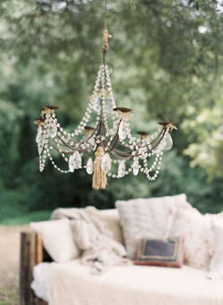 summer breeze& a pretty chandelier!!