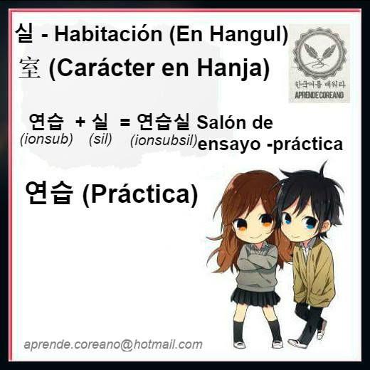 Palabras compuestas en coreano. By Liu.
