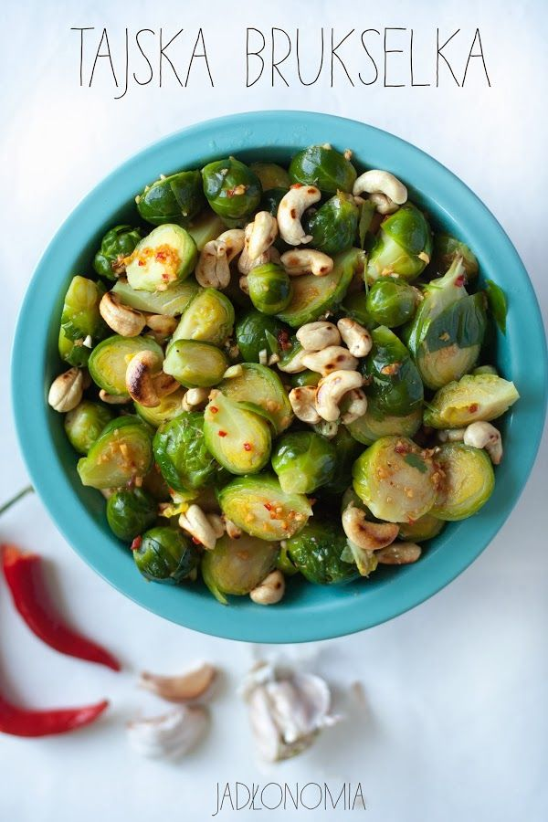 eat clean // brussel sprout, cashew nuts, mint