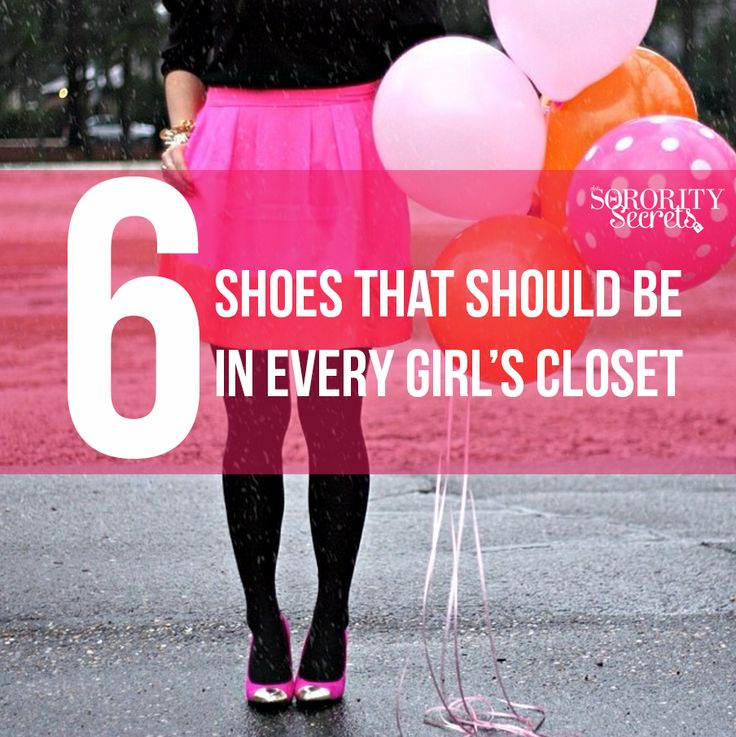 The Sorority Secrets: 6 Shoes That Should Be In Every Girl's Closet. #Shoes #CampusCatwalk #Closet